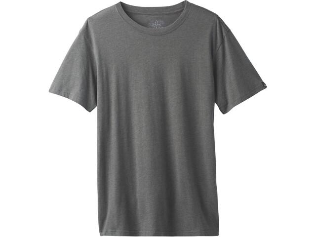 Prana T-shirt manches longues à col ras-du-cou Homme, charcoal heather